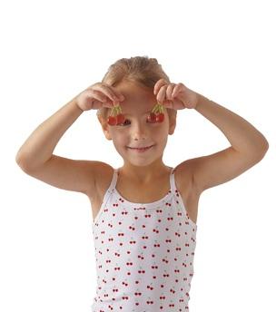 meisjes hemd cherries Little Label