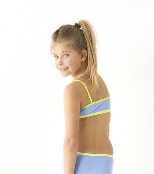 foto setje meisjes BH tops roze en blauw Little Label
