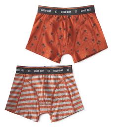 boxers palm orange & big orange stripe Little Label