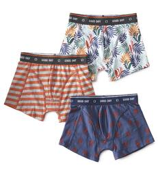 boxers set 3-piece orange Little Label