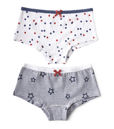 hipster set - star stripe blue & confetti red blue Little Label
