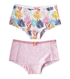 hipster set - palm leaves pink & uni lilac pink Little Label