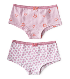hipster set - hearts lilac pink & star lilac pink Little Label