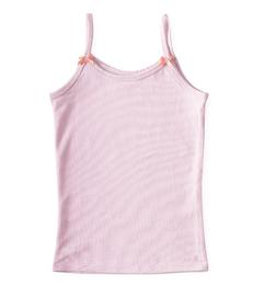 meisjes hemd uni lilac pink Little Label