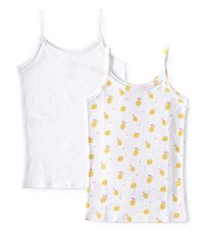meisjes hemd white & lemons Little Label