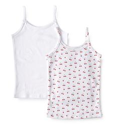 meisjes hemd white & cherries Little Label