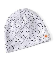 babymütze - white dot