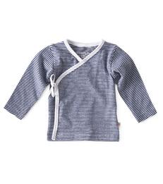 Overslag truitje - small stripe navy - Little Label