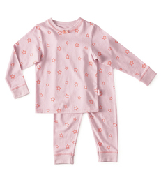 meisjes pyjama - star lilac pink - Little Label