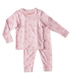 baby pyjama - star lilac pink - Little Label
