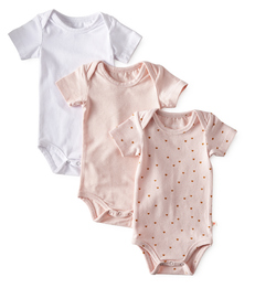 romper 3-pack - pink white- Little Label