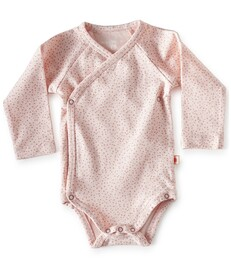 baby wikkel romper - roze stippen- Little Label