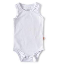 baby Body ohne ärmel - white