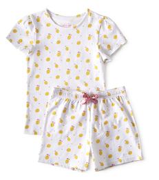 meisjes zomer pyjama - lemons - Little Label