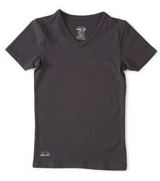 antraciet v-neck shirt Little Label