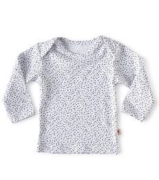 baby Langarmshirt - white dot