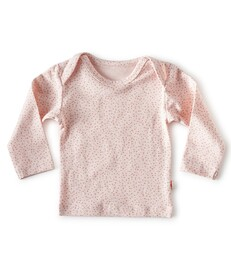 baby Langarmshirt - light pink dot