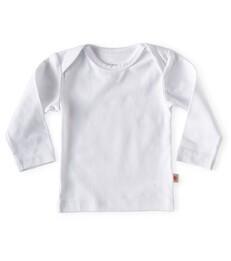baby Langarmshirt - white