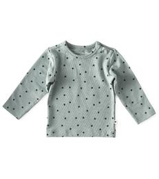 baby shirt lange mouw - greenblue clover little Label