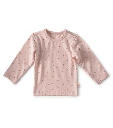 baby shirt lange mouw - light pink hearts little Label