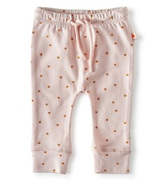 schmale babyhose - light pink hearts