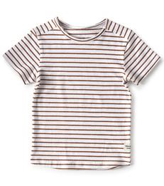 t-shirt korte mouw jongens - gestreept - Little Label