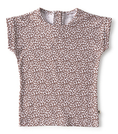 meisjes shirt copper leopard Little Label