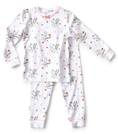 meisjes pyjama - flower white - Little Label