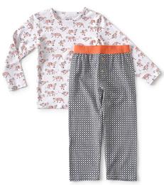 rode jongens pyjama tijger print Little Label