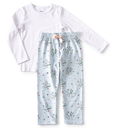 blauwe meisjes pyjama tijger print Little Label