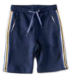 jongens shorts contrast - blauw - Little Label