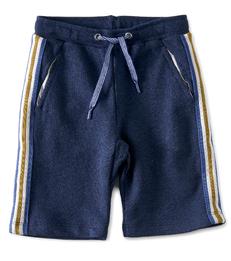 jongens shorts contrast - blauw - Little Label