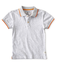 polo shirt jongens - grijs melee - Little Label
