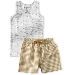 korte meisjes pyjama - gele dots - Little Label