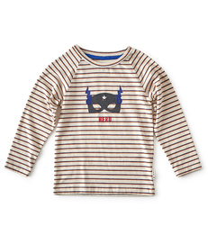 raglan shirt jongens - batman print gestreept - Little Label