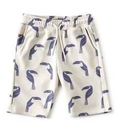 grijze jongens shorts met allover tucan print Little Label