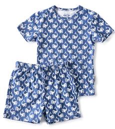 sommer schlafanzug - navy blue whale