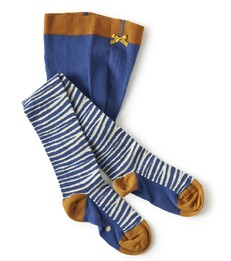 Baby maillot - blauwe zebra print - Little Label