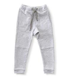 basic baby joggingbroek - light grey melee Little Label