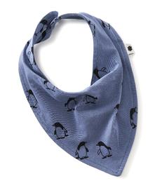 baby bib - penguin blue - Little Label