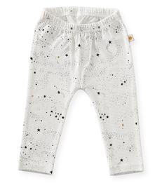baby broekje - off white black stars - Little Label