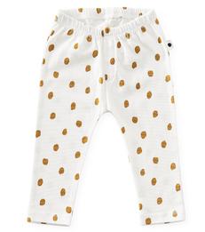 baby broekje - off white big caramel dots - Little Label