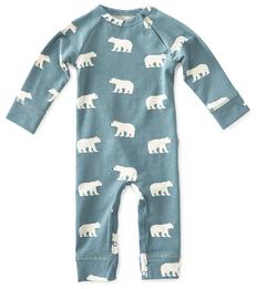 blauw boxpakje ijsberen-print little Label