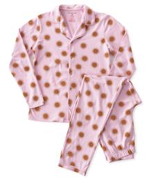 pyjamaset dames roze koperen zonnetjes Little Label