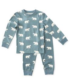 pyjama jongens blauw ijsberen print Little Label