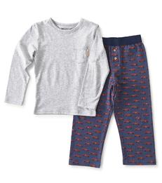 jongens pyjama-set blauw auto Little Label