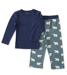 jongens pyjama-set blauw ijsbeer Little Label