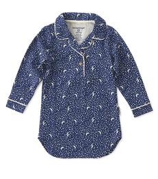 nachthemd meisjes blauw maan sterren Little Label