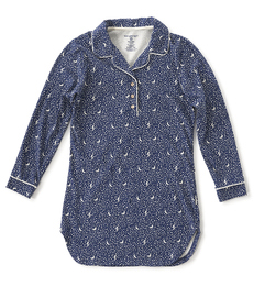 nachthemd dames blauw maan sterren Little Label