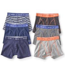 6-pack boxer shorts boys - blue & white - Little Label